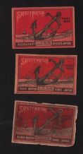 Collectible match box labels CHINA or JAPAN patriotic #663